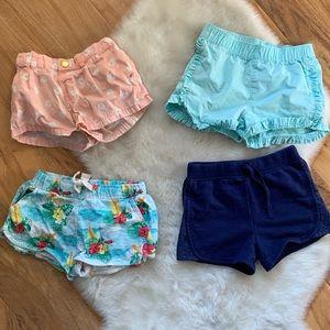 Bundle of girls shorts Zara Cat & Jack H&M Carters